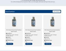 #23 for Design a website for a cosmetics brand selling hand sanitizer and masks by mostakimislam19