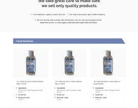 #15 for Design a website for a cosmetics brand selling hand sanitizer and masks by sneha15112018