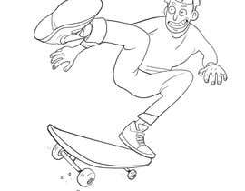 """#2 for I need a skateboard scene re draw a as if it was from Rick and morty   Some example reference images attached. And an example of a completed image  Image needs to be on a canvas that is 9x33"""" at 300dpi  Images not in that format will be rejected by berragzakariae"""