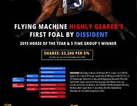 #62 para Racehorse shares for sale 1 page brochure por KateStClair