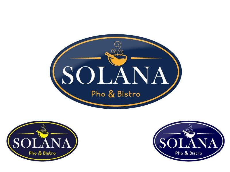 Tävlingsbidrag #76 för Design a Logo for Solana Pho & Bistro