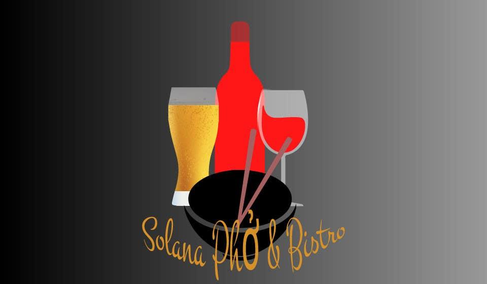 Tävlingsbidrag #70 för Design a Logo for Solana Pho & Bistro