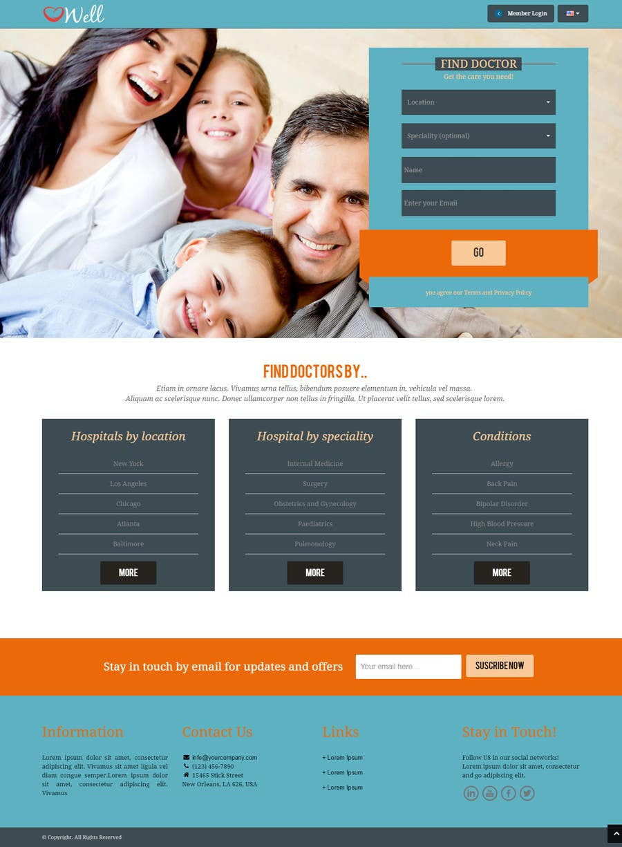 Contest Entry #6 for Design a Website Mockup for an Online Medical Resource