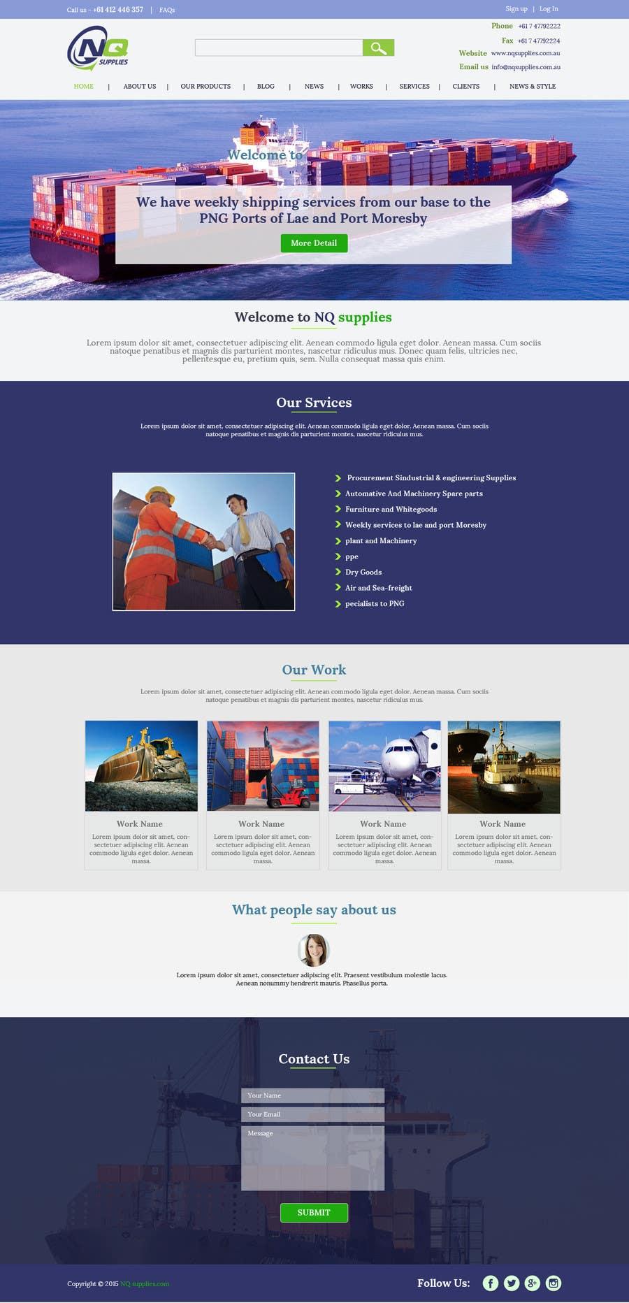 Participación en el concurso Nro.24 para Build a Website for North Queensland Supplies