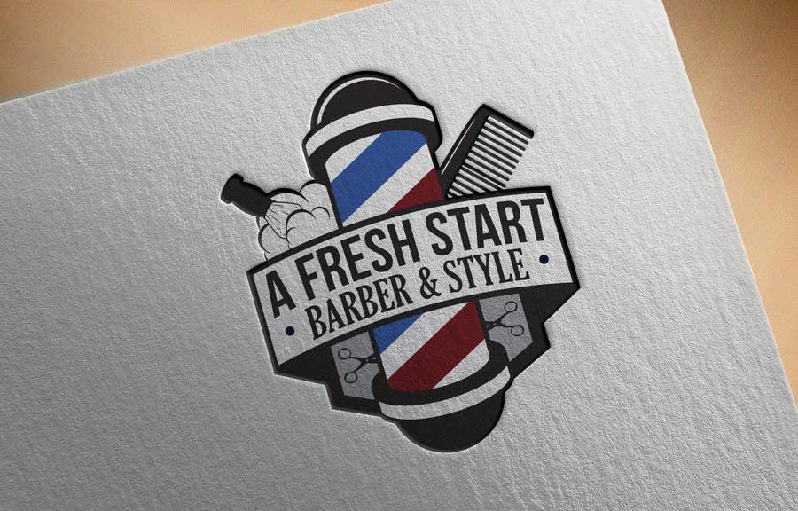 """Intrarea #13 pentru concursul """"Design a Badge/Logo for Barbershop"""""""