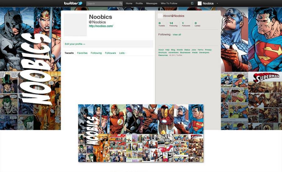 Bài tham dự cuộc thi #7 cho Twitter Background for Noobics Blog
