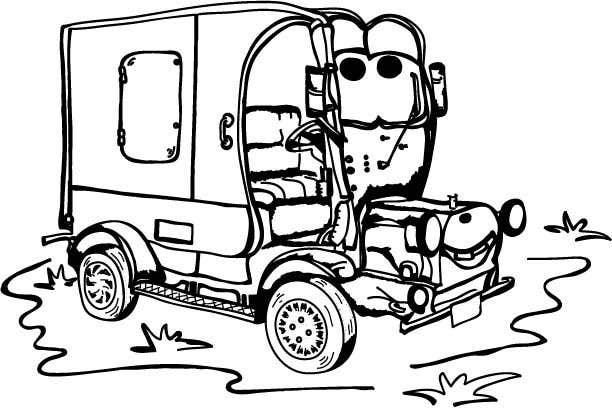 """Intrarea #3 pentru concursul """"Illistrate a cartoon version of our promo car - Kids Colouring in Competition"""""""