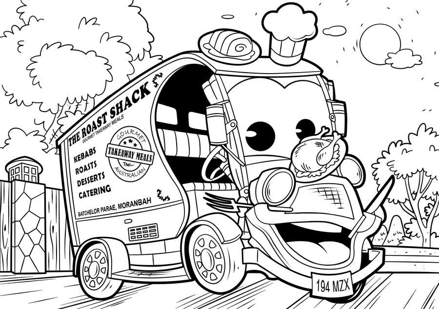 "Intrarea #44 pentru concursul ""Illistrate a cartoon version of our promo car - Kids Colouring in Competition"""
