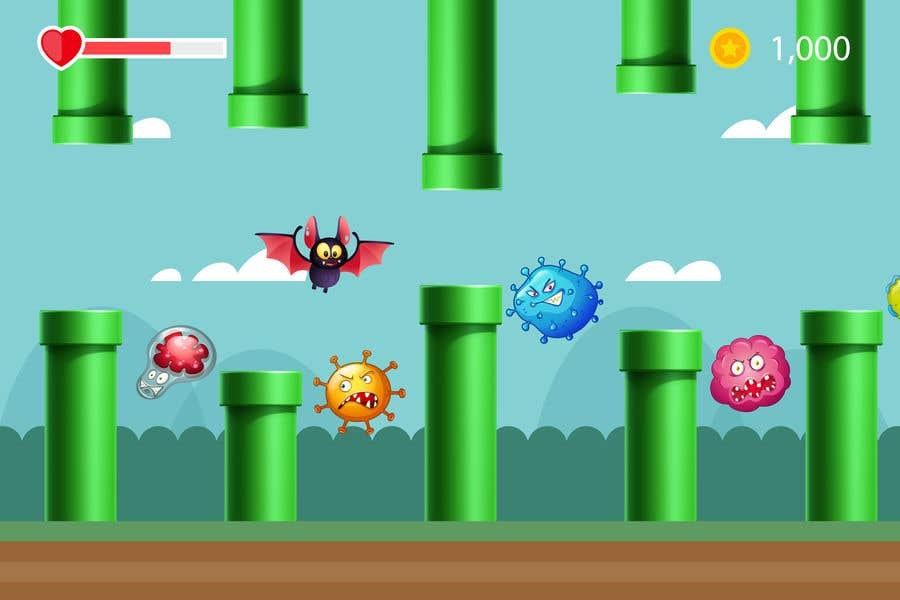Contest Entry #                                        6                                      for                                         2D fly animation Batt + 2D die animation virus.