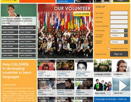 #3 for http://www.fluentfuture.com/ - language exchange home page design af ambar