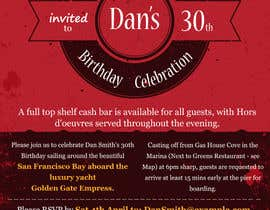 #60 for Design a 30th Birthday Invite by fastidea