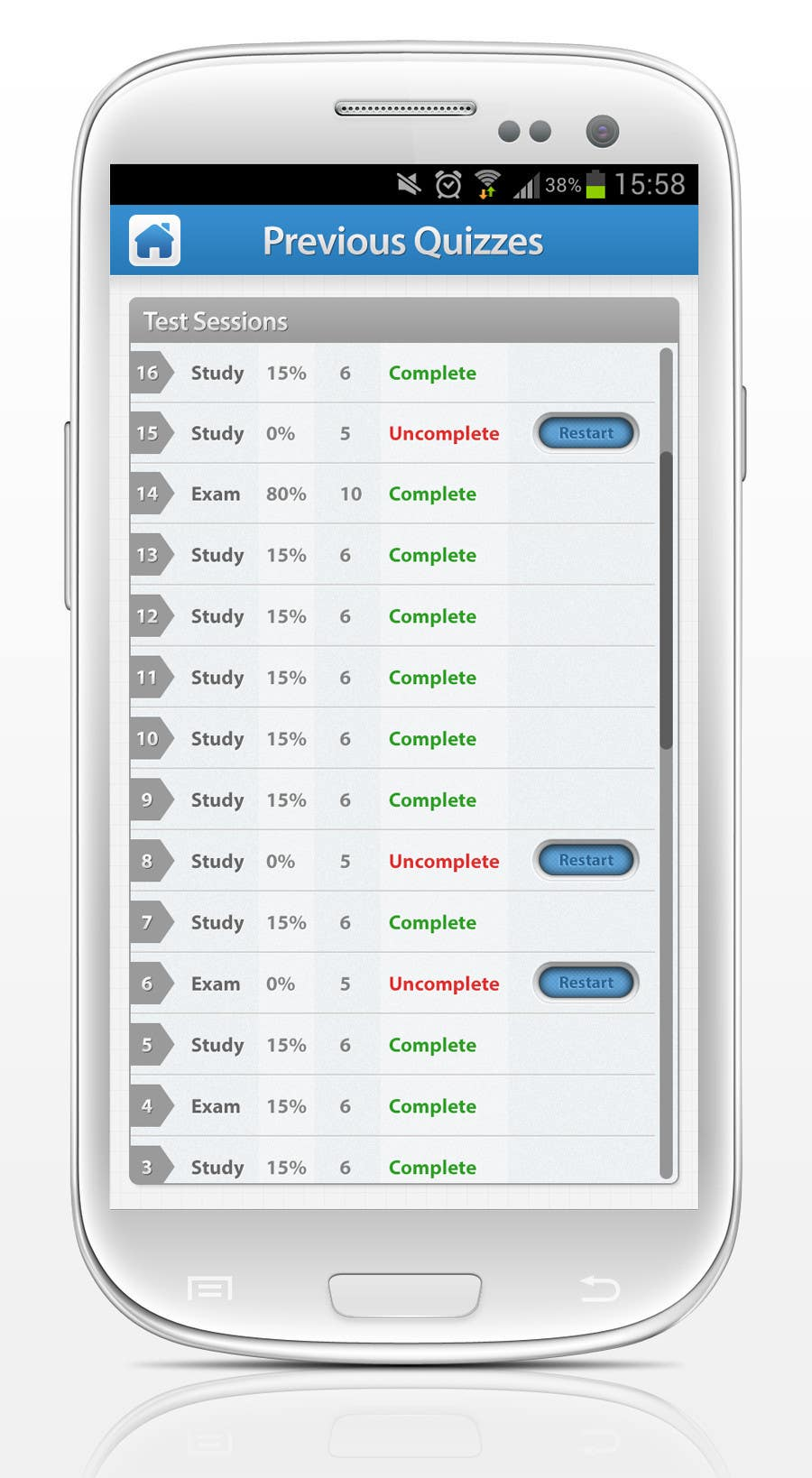 Kilpailutyö #                                        54                                      kilpailussa                                         App Design for Android Education App - Looking for Professional Designer - Long Term Relationship