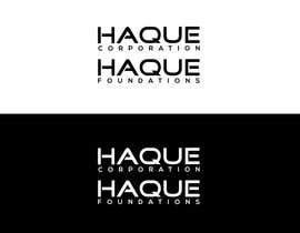 """#132 for Need two logo for two different organisations. One is """"Haque Corporation"""" which is a holding company of different companies.  Another one is """"Haque Foundations"""" which is a non profit organisation to support different good cause. by MATLAB03"""
