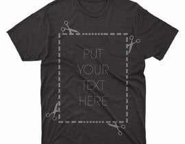 #81 para design t-shirt templates for personalized text shirts de alihaskara