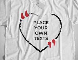 #15 para design t-shirt templates for personalized text shirts de raisulrahi9