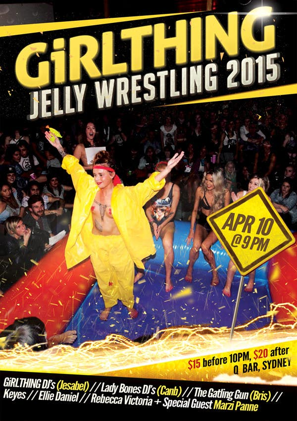 Contest Entry #19 for Design a Flyer for Jelly Wrestling Competition