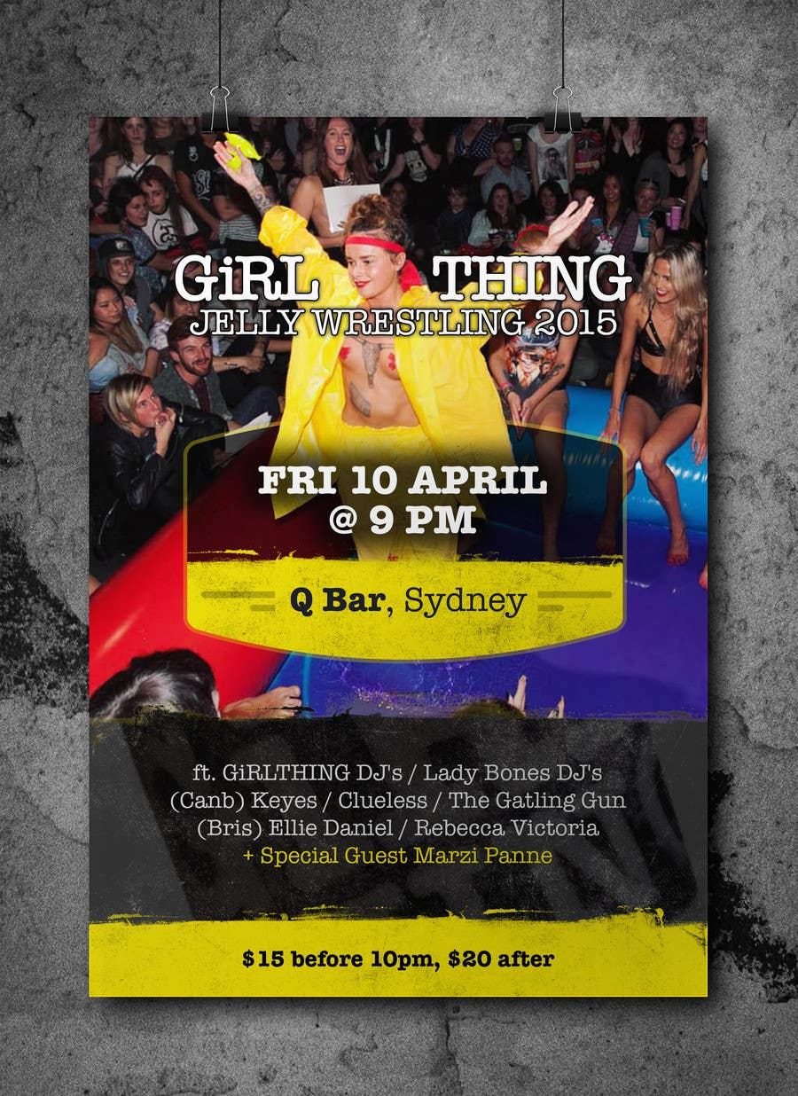 Penyertaan Peraduan #28 untuk Design a Flyer for Jelly Wrestling Competition