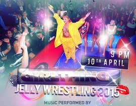 #27 for Design a Flyer for Jelly Wrestling Competition by joosuedi