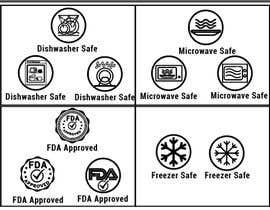#28 untuk Create 8 food safe symbols for packaging oleh shoharab