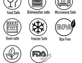 #21 for Create 8 food safe symbols for packaging by rounitrakesh365