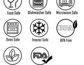 #22 for Create 8 food safe symbols for packaging by rounitrakesh365