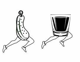 #2 for Illustration of pickle chasing whiskey by legalpalava