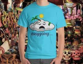 #17 untuk T-Shirt Design (Cloud with a face + little stick figure with skateboard) oleh Febrezade