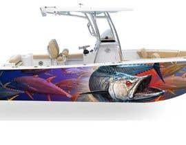 Nro 27 kilpailuun Graphic design for boat wraps käyttäjältä Jannat91