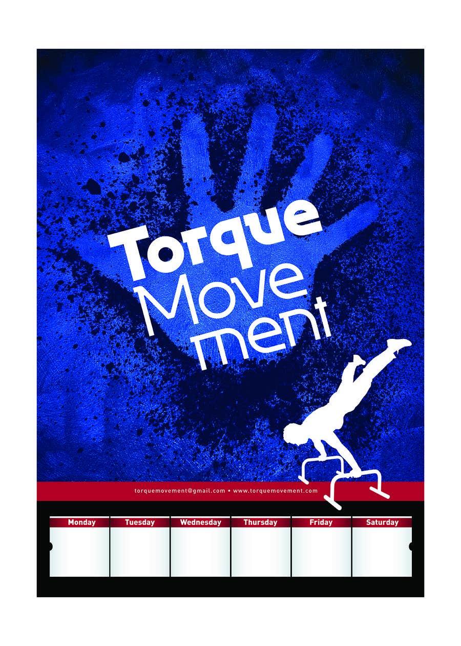 "Intrarea #8 pentru concursul ""Design a Flyer, Poster and T-shirt for TorqueMovement"""