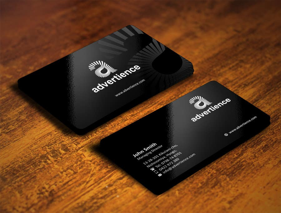 powerpoint template amp business card template design
