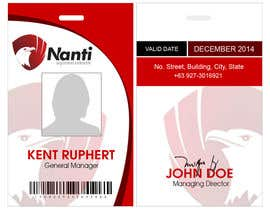 nº 9 pour ID Badge for Nanti System par geofards