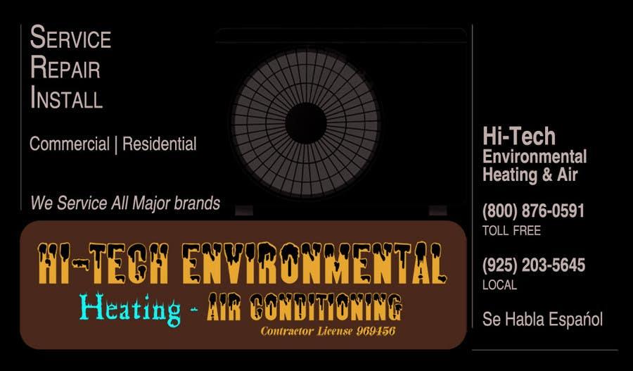 Kilpailutyö #28 kilpailussa Business Card Deign for Heating & Air Conpany