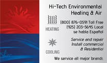 Graphic Design Konkurrenceindlæg #2 for Business Card Deign for Heating & Air Conpany