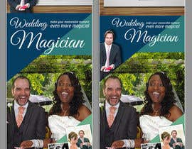 Nro 22 kilpailuun Design a Roller Banner to showcase at wedding fairs for a wedding magician käyttäjältä madlabcreative