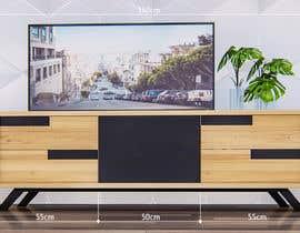 robmendz08 tarafından Cabinet TV 3D model - LOFT FURNITURE Steel and natural OAK için no 97