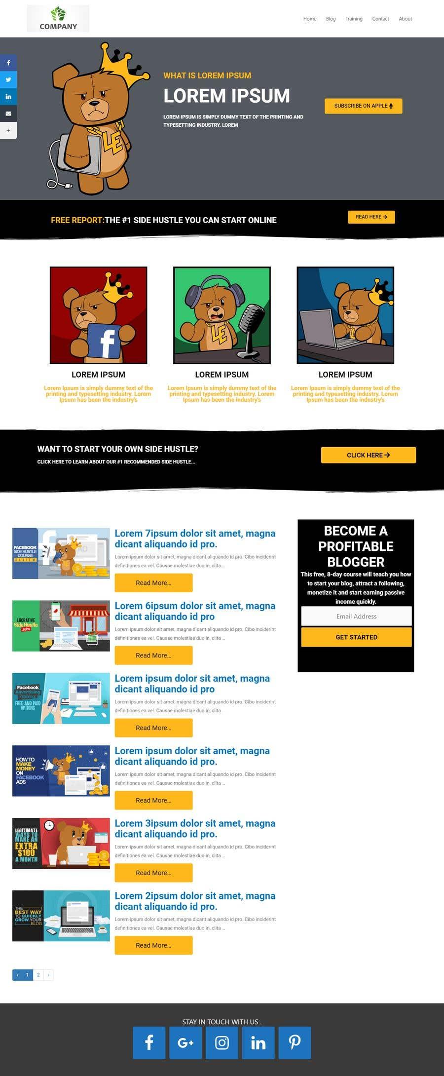 Penyertaan Peraduan #                                        45                                      untuk                                         Design and build a Wordpress blog website