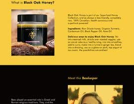 #61 cho Design a webpage for honey product bởi fanchastic101