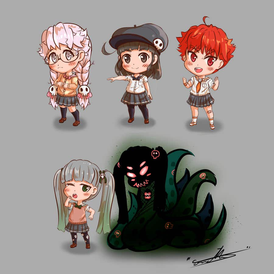 Penyertaan Peraduan #                                        53                                      untuk                                         We need the best\cutest\funnest Chibi character art for a children's cartoon based on mythological characters in modern day.
