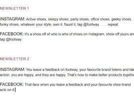 nº 20 pour Create social media captions from newsletter copy par surescribbler