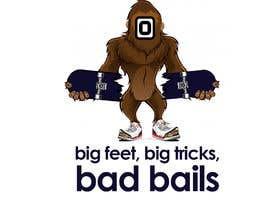#1 cho Design for T-Shirt Hoodie (Bigfoot, altered head, broken skateboard, broken shoes) bởi tarekgueham