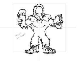 #39 cho Design for T-Shirt Hoodie (Bigfoot, altered head, broken skateboard, broken shoes) bởi gustavo225