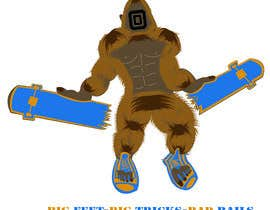 #27 cho Design for T-Shirt Hoodie (Bigfoot, altered head, broken skateboard, broken shoes) bởi AlimSheakh