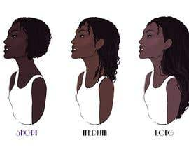 #25 for Create Illustration for different Hairlengths by StefaniaSaftoiu