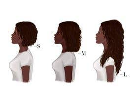 #16 for Create Illustration for different Hairlengths by andrianacehnak