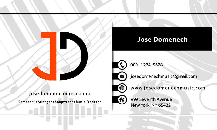 Contest Entry #94 for Logo Design and Business Card Musician