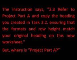 Nro 19 kilpailuun Excel Project Part B käyttäjältä Shawkat2012