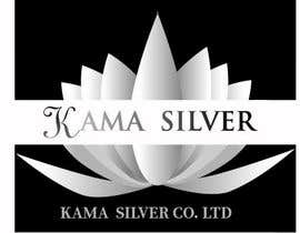 Nro 24 kilpailuun Kama silver logo design. I need a logo with lotus in it. For my website. I am a wholesaler of silver jewellery. Need for my website käyttäjältä mou2mou