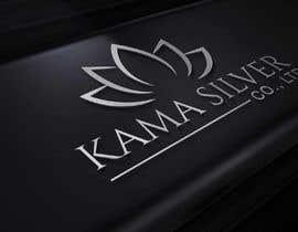 Nro 34 kilpailuun Kama silver logo design. I need a logo with lotus in it. For my website. I am a wholesaler of silver jewellery. Need for my website käyttäjältä Ghaziart