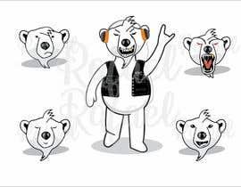 #17 for Design a cartoon character: cute metalhead polar bear by RafaelMaya