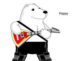 #36 for Design a cartoon character: cute metalhead polar bear by luisraulag
